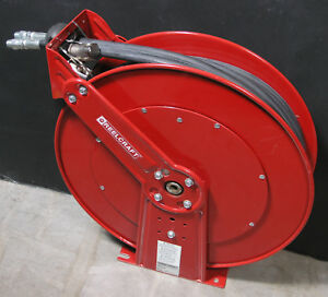 Reelcraft Th88050 Twin Hydraulic Spring Retractable Hose Reel 1 2 X 50