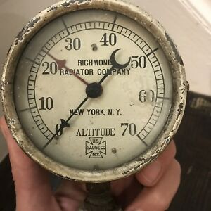 Antique Us Gauge Richmond Radiator Altitude Gauge Fittings And Valve Steampunk