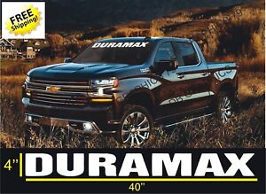 Dirtymax Duramax 40 Vinyl Decal Sticker Chevrolet Dodge Ford Truck 2500 4x4