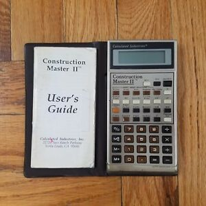 Construction Master Ii Calculator Consolidated Industries Vintage
