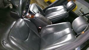 00 02 Mercedes Benz W220 S55 Amg Black Leather Seat Set front And Rear