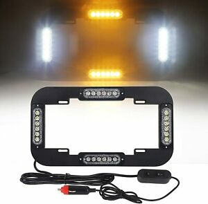 13 6 24w Led Warn Traffic Adviser Strobe Signal License Plate Light Amber White