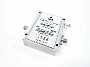 Mini circuits Zve 8gx Amplifier Medium High Power 2000 To 8000 Mhz Coaxial