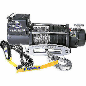 Superwinch 1511201 Tiger Shark 12v Winch 11 500 Lb Capacity W Synthetic Rope