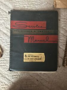 Warner Swasey 6 Spindle Bar Automatic Starting Lot 1 Service Manual