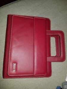 Franklin Covey Day One Organizer Planner Agenda Red Handles Inserts