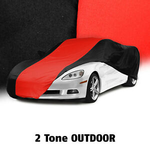 2005 2013 Corvette C6 Black Red Outdoor All Weather Car Cover Storage Bag
