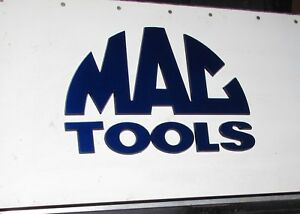 Mac Tools Toolbox Decal Raised Letters Plastic 10 Inches Blue