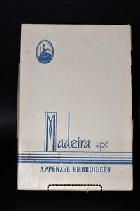Vintage Appenzel Embroidery Madeira Style Set Of 2 Pillowcases In Original Box