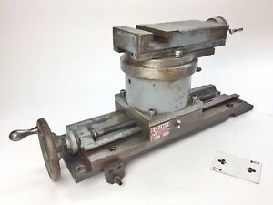 Setco Compound Dovetail Xy Cross Slide Carriage Assembly Up To 20 Swing Lathe
