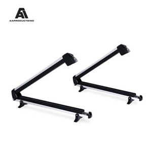 Universal Aluminum Roof Mounted Carrier Racks Fits 6 Pairs Skis Or 4 Snowboards