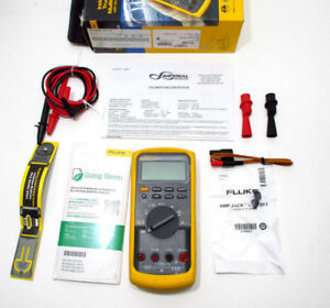 2017 Fluke 87v nist Industrial True rms Multimeter W Nist Current Calibration