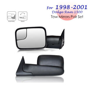 Left right For 1998 2001 Dodge Ram 1500 2500 3500 Flipup Tow Mirrors