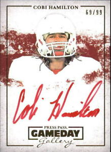 2013 Press Pass Gameday Gallery Gold Red Ink #CH Cobi Hamilton99