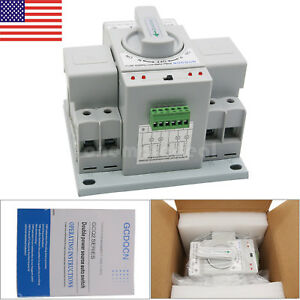 Automatic Transfer Switch 2p 63a 110v Toggle Switch Dual Power Gcq2 63 2p Us