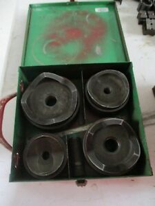 Used Greenlee 7304 2 1 2 4 Knockout Set With Metal Case Free Shipping