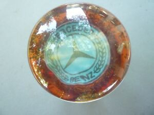 Vintage Shift Knob With The Star Of Mercedes Benz Lucite Acrylic