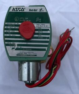 Asco Red hat 8210g095 120v Brass Solenoid Valve Normally Closed 3 4 Pipe Size