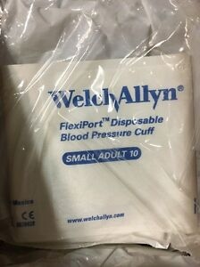 Welch Allyn Soft 10 Disposable Blood Pressure Cuff Small Adult New 20 Ct