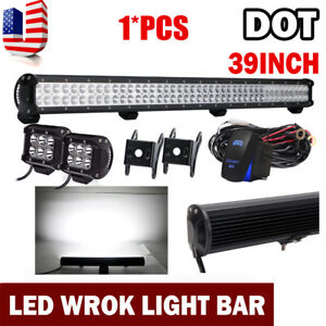 39 Inch 252w Led Light Bar Fog Driving Bumper Grill Roof Tail Off Road 40