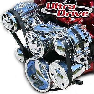 March Performance 20260 Ultra Drive Serpentine Pulley Kit For Chevy Small Block