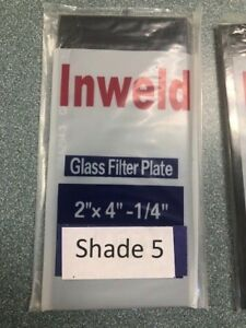 Filter Lens Glass Plates 2 X 4 1 4 Shade 5 Lot Of 10 Welding Plate