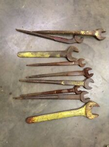 Lot Of 9 Open Ended Spud Wrenches Armstrong Armaloy Williams