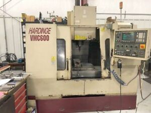 1998 Hardinge Vmc 600 Cnc Vertical Machining Center