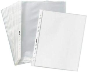 Clear Non Glare Sheet Page Protectors 8 1 2 X 11 400 Sleeves Document Office Top