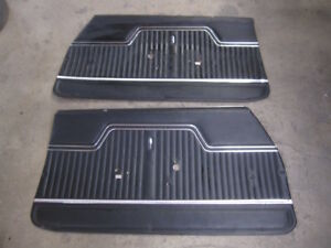 1970 71 72 Chevelle Coupe Front Door Panels Black M246
