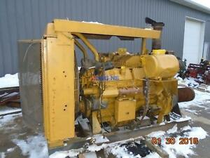 Caterpillar 3412 D i Engine Complete 38s Twin Turboed Mechanical Good Running