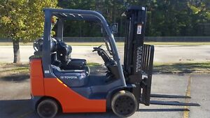 2 Available 2015 Toyota 8fgcu25 Forklift Truck 189 Side Shift New Paint