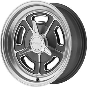 15x7 Gray American Racing Vintage Vn502 Wheels 5x4 5 0 Fits Ford Mustang