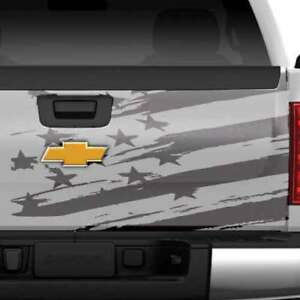 Dodge Ram Chevy Ford American Flag Tailgate Side Truck Graphic Decal Vinyl Bed