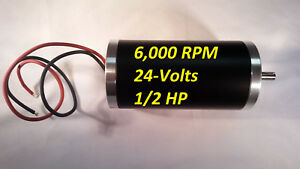 1 2 hp 24 vdc 6000 rpm Electrical motor 8mm shaft Permanent magnet Servo Project