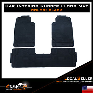 Car Floor Mats Front Rear Carpet Universal Auto Mat All Weather Waterproof