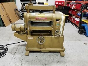 Powermatic Model 180 18 Wood Planer With Complete Grinder Made In Usa