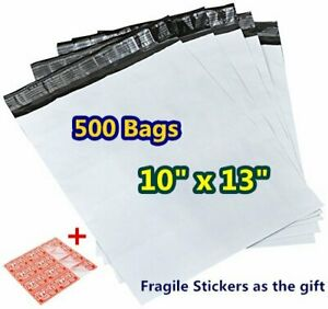 500 Poly Mailers 10x13 Plastic Shipping Bags Self Sealing Envelopes Wholesales