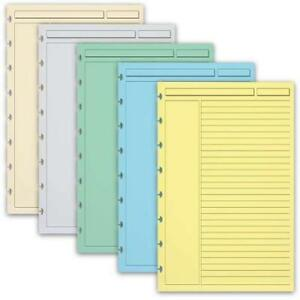 Levenger 300 Circa Multicolor 1 4 inch Ruled Refill Sheets Jnr ads6165