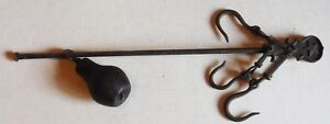 Antique C 1800 S Hand Forged Cast Iron Steelyard Scale