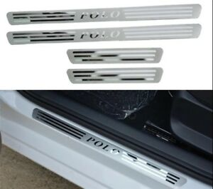 For Vw Polo 2011 2012 2013 2014 2015 Volkswagen Door Scuff Plate 4 Trim Pcs