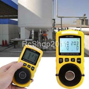 Us Ht 1805 4 In 1 Gas Analyzer Detector Portable O2 Co H2s Harmful Gas Tester