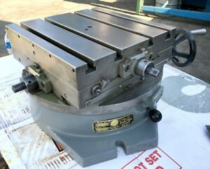 Clean Troyke 12 X 12 Cross Slide 2 Axis 15 Dia Rotary Table Dmt 15