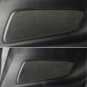Car Carbon Fiber Rear Seat Door Handle Panel Trim Fit For Ford Mustang 2015 2018