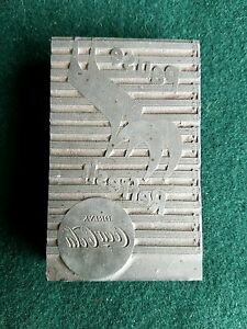 Vintage Coca cola Letterpress Printer Block Pause N Refresh Music Ca 1924