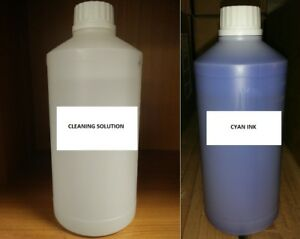Cyan Sublimation Ink Refill Sublimation Cleaning Solution Refill Epson Mutoh