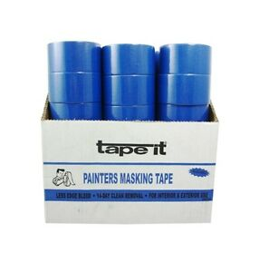 Case Pack 36 Rolls Painters Blue Masking Tape 1 89 X 30 Ft Per Roll