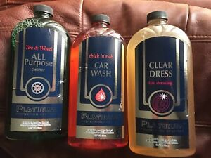 Platinum Protection Car Care 3 Pk Wash Tire Dressing Tire Cleaner 22oz Each