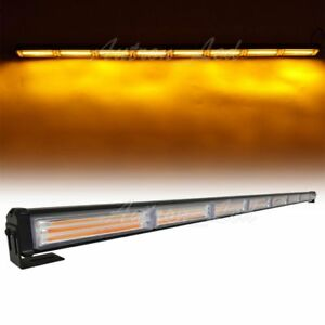 45 Inch Led Cob Warning Emergency Traffic Adviser Signal Strobe Lightbar Amber