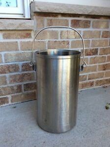 Vollrath 59200 Stainless Steel 20 Quart Ice Cream tote Pail